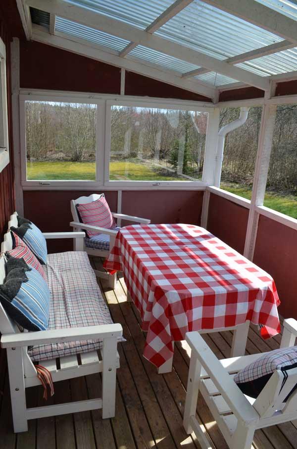 Slaapkamer vakantiewoning Zweden